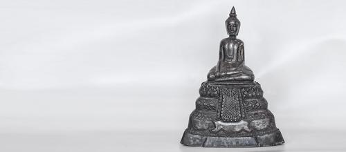 Buddha, Silber, Kambodia