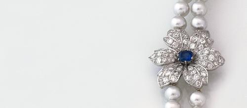Diamantblume mit Saphir