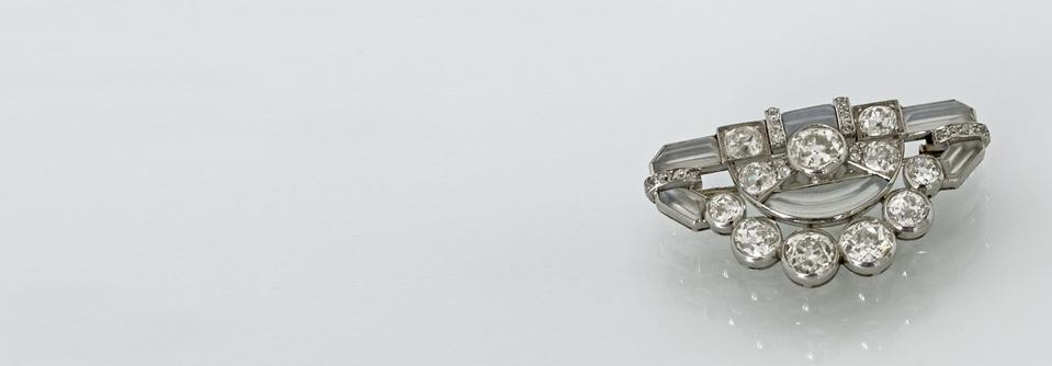 Diamantenbrosche