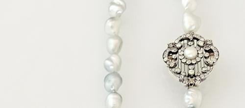 Diamantenobjekt mit Perle